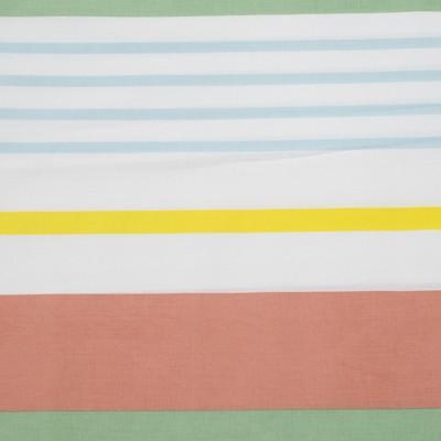206 Rayas verdes, azules, amarillas y naranjas (fondo blanco)
