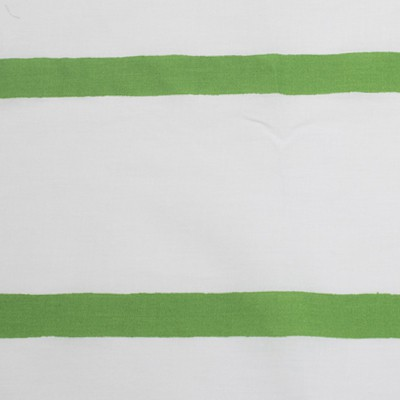 207 Rayas verdes sobre tela blanca